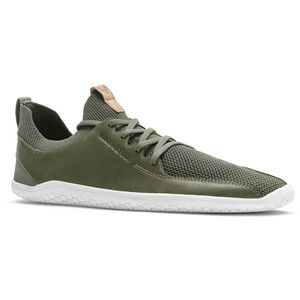 Vivobarefoot PrImus KnIt Leather Shoes Dam olive green olive green