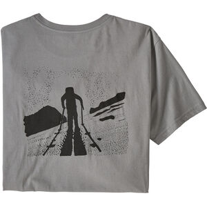 Patagonia Breaking Trail Organic T-Shirt Herr feather grey feather grey
