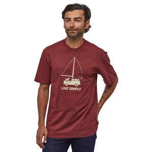 Patagonia Live Simply Wind Powered Responsibili-Tee Herr oxide red oxide red