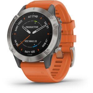 Garmin Fenix 6 Sappire Titanium Smartwatch grau/orange grau/orange