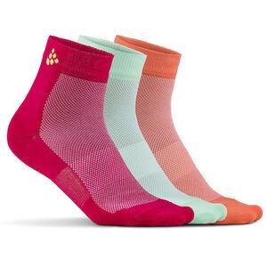 Craft Greatness Mid Socks 3-Pack jam/lime jam/lime
