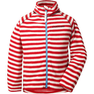 Didriksons 1913 Monte Printed Jacket Barn chili red simple stripe chili red simple stripe