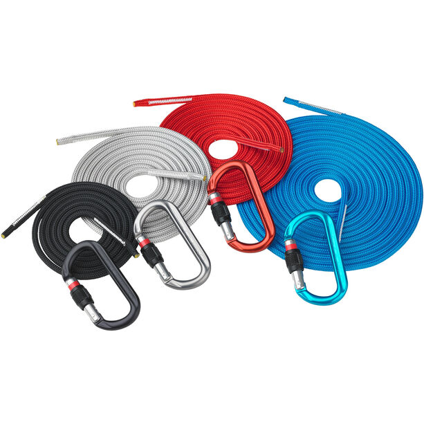 AustriAlpin DYNA.MIT Set with 4 cords & 4 carabiners red/black/grey/blue