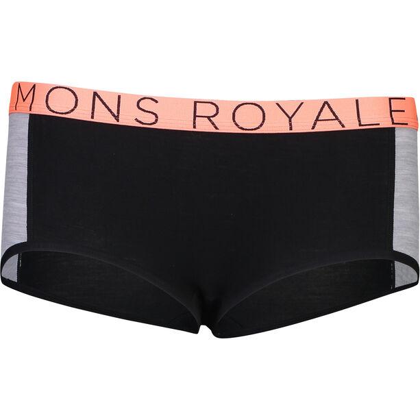 Mons Royale Sylvia Boyleg Dam black/grey marl