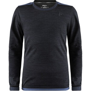 Craft Fuseknit Comfort Round Neck LS Shirt Barn black black