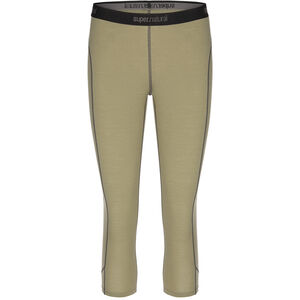 super.natural Base 175 3/4 Tights Women Bamboo/Killer Khaki Bamboo/Killer Khaki