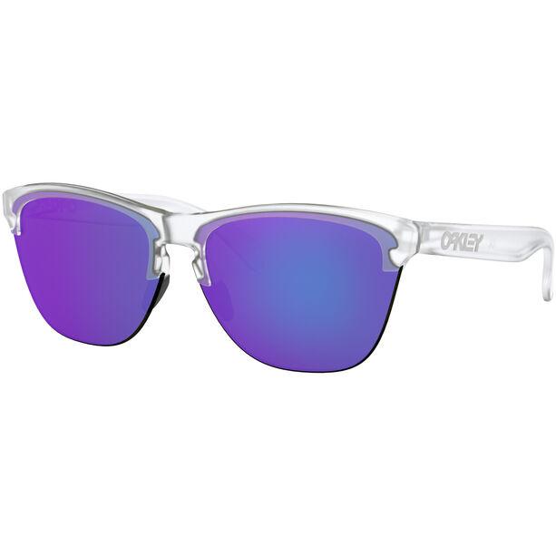 Oakley Frogskins Lite Sunglasses Matte Clear/Violet Iridium