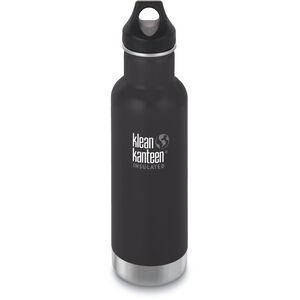 Klean Kanteen Classic Vacuum Insulated Bottle Loop Cap 592ml shale black matt shale black matt