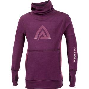 Aclima WarmWool Hood Sweater Barn grape wine/damson grape wine/damson
