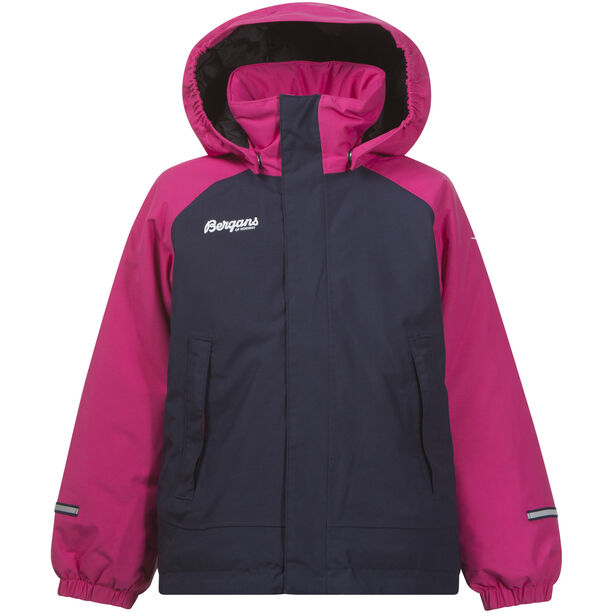 Bergans Storm Insulated Kids Jkt Barn hot pink/navy