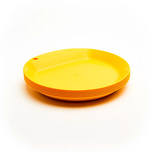 Wildo Camper Plate Flat Set Unicolor 6x lemon lemon