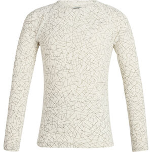 Icebreaker 200 Oasis Sky Paths LS Crewe Shirt Barn Snow Snow