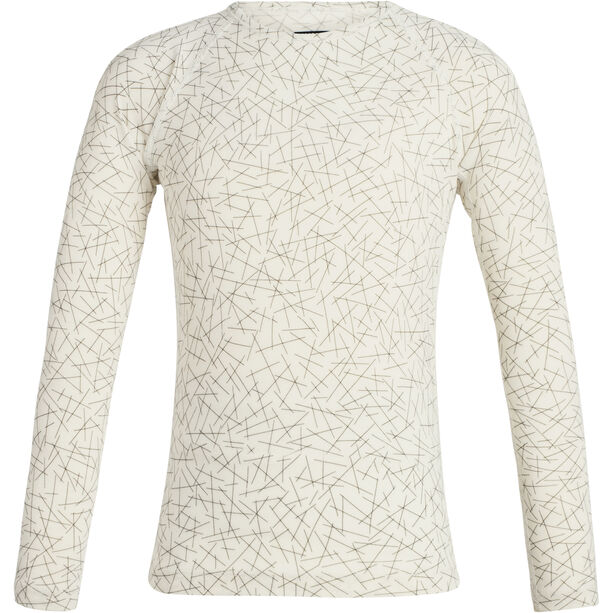Icebreaker 200 Oasis Sky Paths LS Crewe Shirt Barn Snow