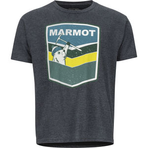 Marmot Retro SS Tee Herr charcoal heather charcoal heather