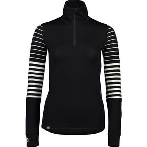Mons Royale Cornice Half Zip Baselayer Dam black/thick stripe/thin stripe black/thick stripe/thin stripe