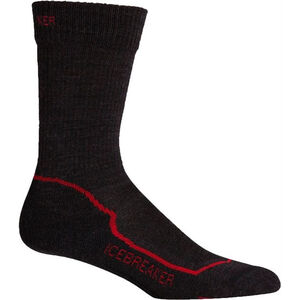 Icebreaker Hike+ Light Crew Socks Herr jet/black/red jet/black/red