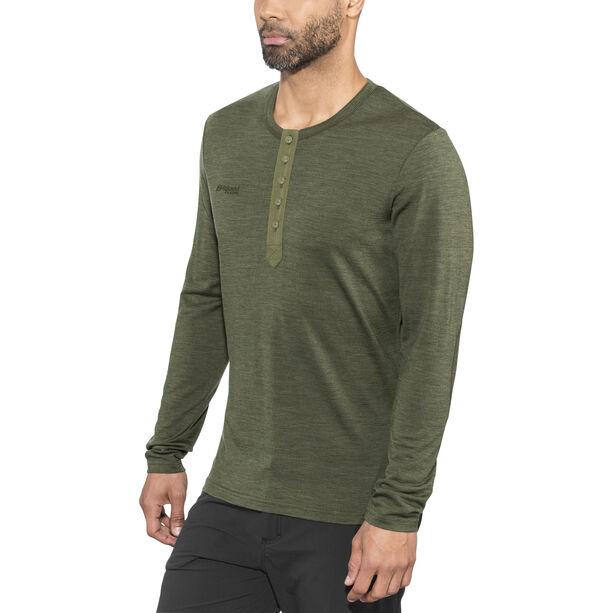 Bergans Henley Wool Shirt Herr seaweed melange