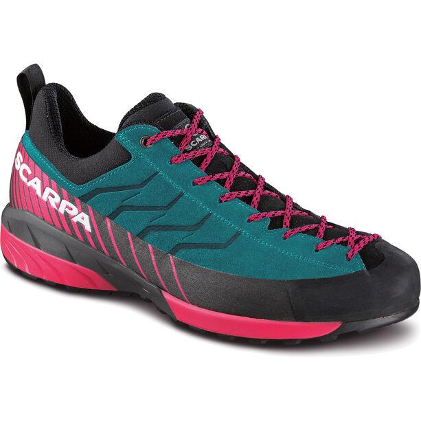 Scarpa Mescalito GTX Shoes Dam tropical green-rose red