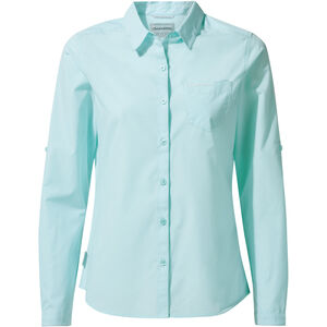 Craghoppers Kiwi Long Sleeved Shirt Dam capri blue capri blue