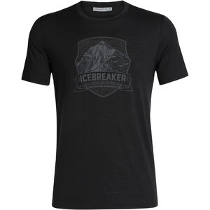 Icebreaker Tech Lite Everest Crest SS Crewe Shirt Herr Black Black