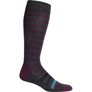 Icebreaker Lifestyle Light OTC Legacy Stripe Socks Dam Jet Heather Jet Heather