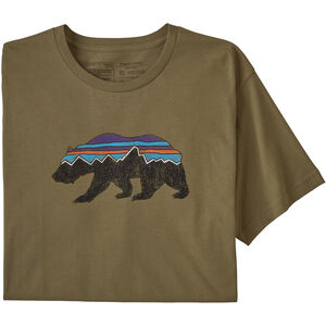 Patagonia Fitz Roy Bear Organic T-shirt Herr sage khaki sage khaki