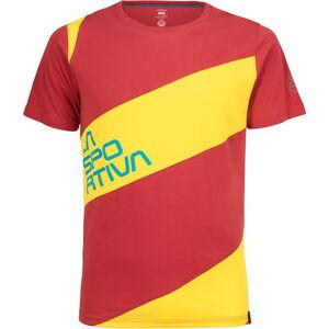 La Sportiva Slab T-shirt Herr cardinal red/lemonade cardinal red/lemonade
