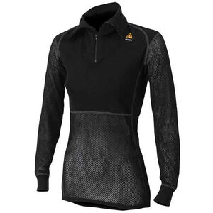 Aclima Woolnet Polo Zip Dam black black
