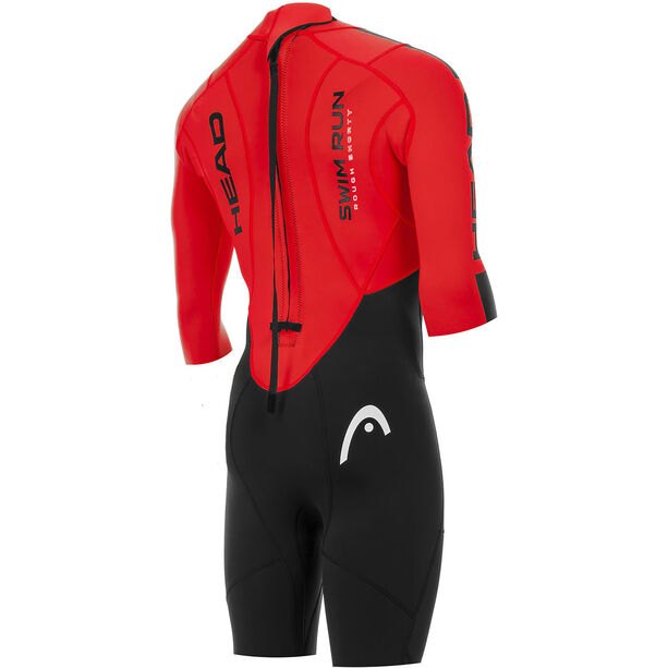 Head Swimrun Rough Shorty Suit Herr black-red