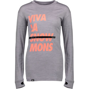 Mons Royale Yotei BF Tech LS Dam grey marl grey marl