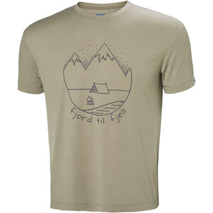 Helly Hansen Skog Graphic T-shirt Herr aluminum aluminum