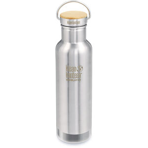 Klean Kanteen Reflect Vacuum Insulated Bottle w. Unibody Bamboo Cap 592ml brushed stainless brushed stainless