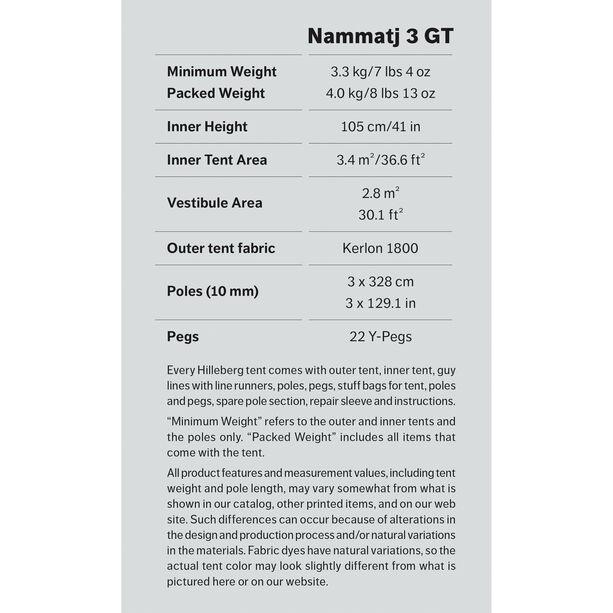 Hilleberg Nammatj 3 GT röd