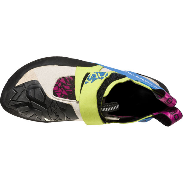 La Sportiva Skwama Climbing Shoes Dam apple green/cobalt blue