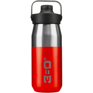 360° degrees Wide Mouth Insulated Drink Bottle with Sipper Cap 550ml red red