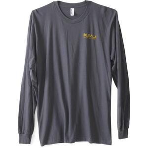KAVU Etch Art LS T-Shirt Herr asphalt asphalt