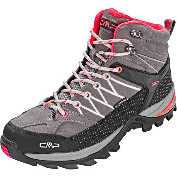 CMP Campagnolo Rigel Mid WP Trekking Shoes Dam grey-red fluo