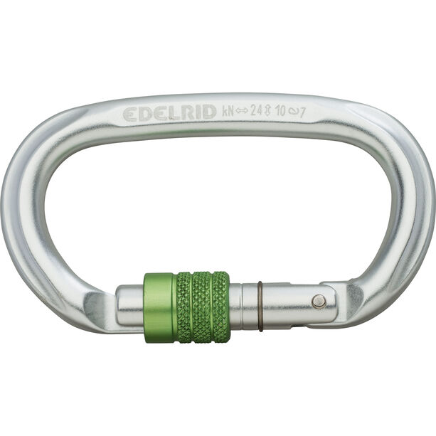 Edelrid Oval Power 2400 Screw Carabiner silver