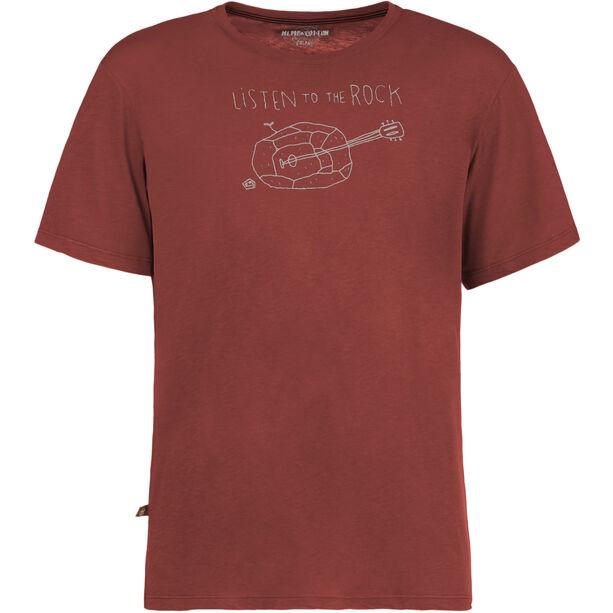 E9 Guitar T-shirt Herr wine