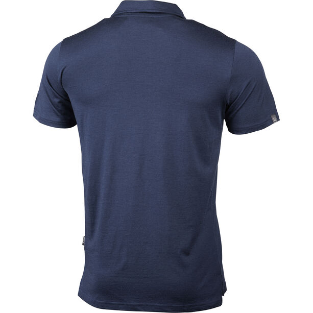 Lundhags Gimmer Merino Light Polo Tee Herr deep blue