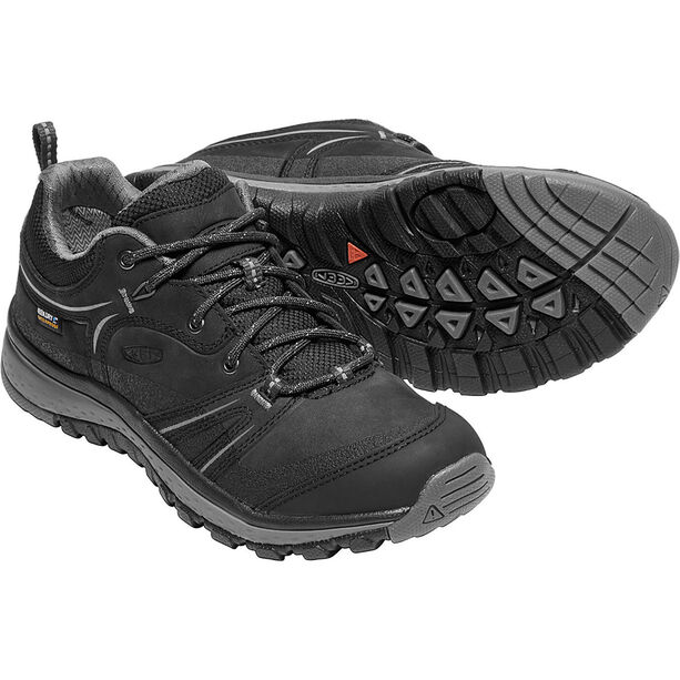 Keen Terradora Leather WP Shoes Dam black/steel grey