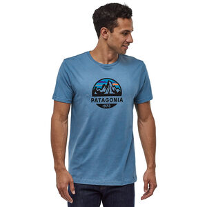 Patagonia Fitz Roy Scope Organic T-shirt Herr woolly blue woolly blue