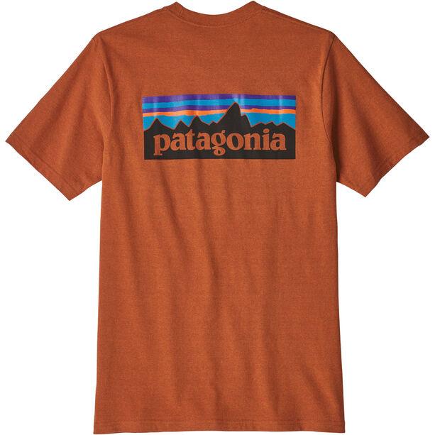 Patagonia P-6 Logo Responsibili Tee Herr copper ore