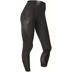 2XU Mid-Rise Compression Tights Dam black/dotted reflective logo black/dotted reflective logo