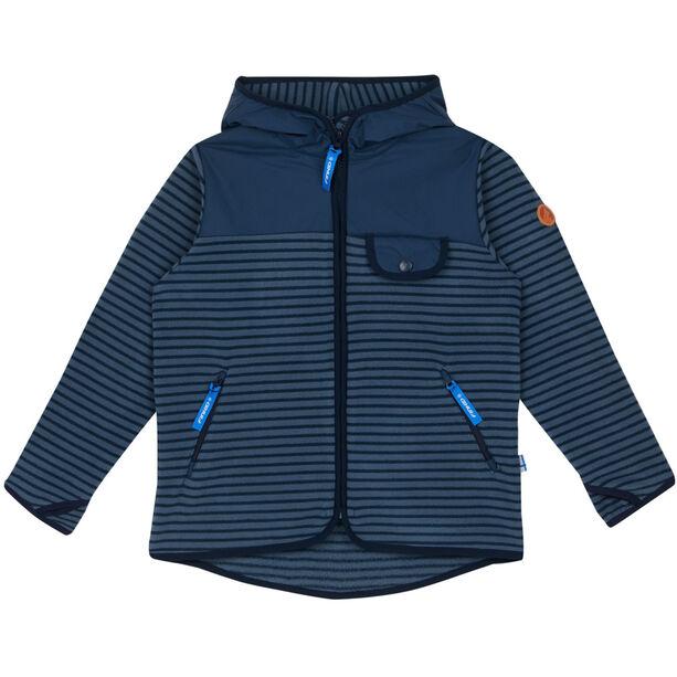 Finkid Mukava Fleece Jacket Barn blue mirage/navy