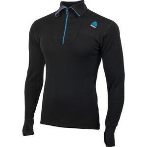 Aclima DoubleWool Polo Zip Shirt Herr jet black jet black