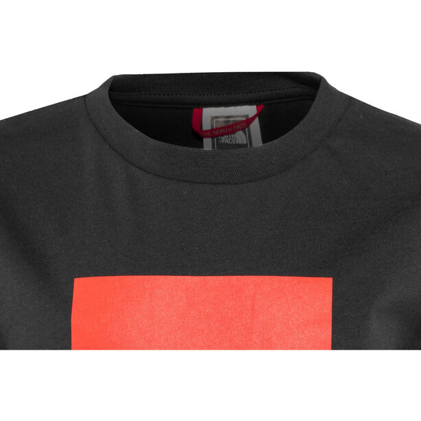The North Face Box S/S Tee Pojkar tnf black/fiery red