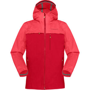 Norrøna Svalbard Cotton Jacket Dam crisp ruby crisp ruby