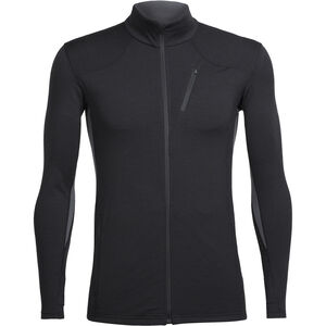 Icebreaker Fluid Zone LS Zip Shirt Herr black/black black/black