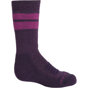 Icebreaker Ski Medium OTC Stripe Socks Barn Lotus/Mystic Lotus/Mystic